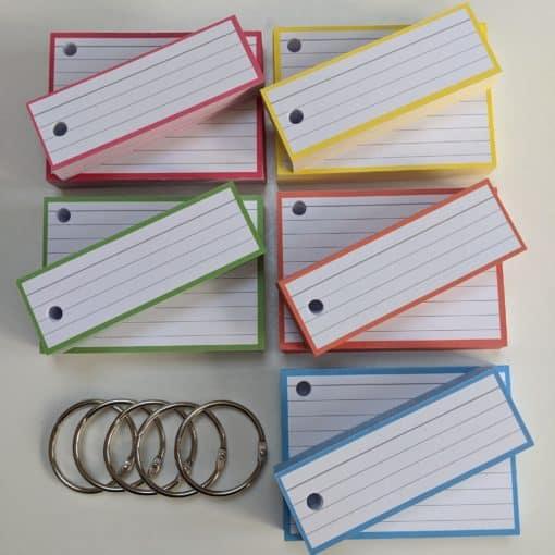 Combipakket 250 flashcards A7 250 flashcards Half - met perforatie top pastel