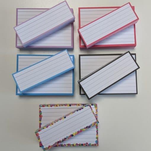 Combipakket 250 flashcards A7 250 flashcards Half - zonder perforatie top 2